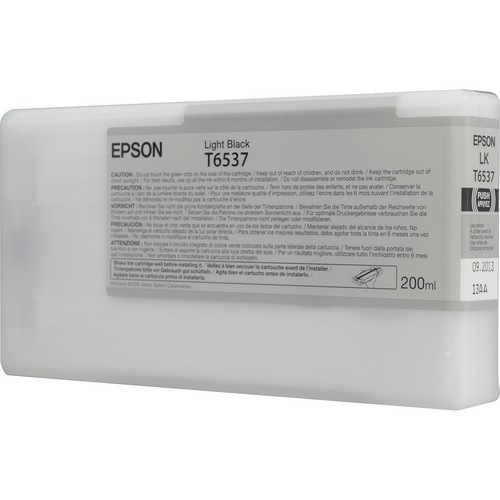 T6537 - Cartucho de Tinta Epson UltraChrome HDR 200ml - Preto Claro