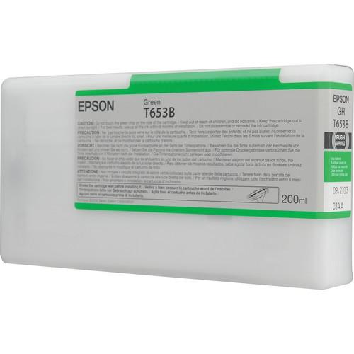 T653B - Cartucho de Tinta Epson UltraChrome HDR 200ml - Verde