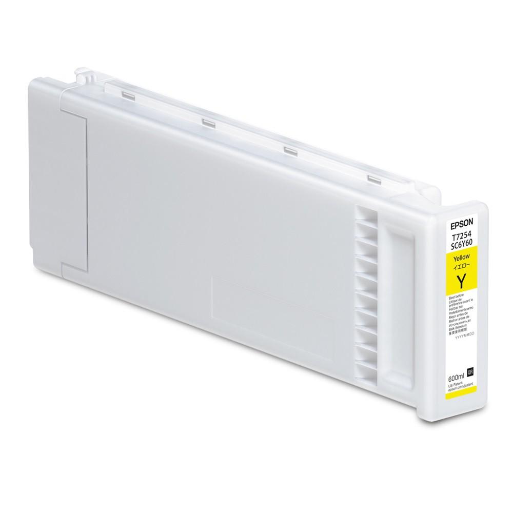 T7254 - Cartucho de Tinta Epson UltraChrome DG 600ml - Amarelo