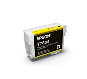 T7604 - Cartucho de Tinta Epson UltraChrome HD 25,9ml - Amarelo