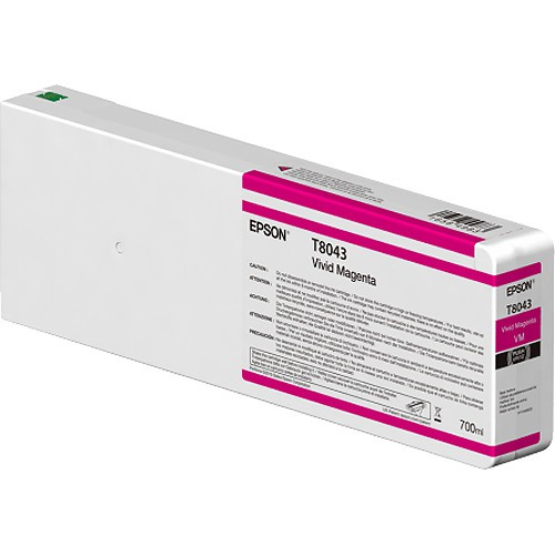 T8043 - Cartucho de Tinta Epson UltraChrome HD 700ml - Magenta Intenso