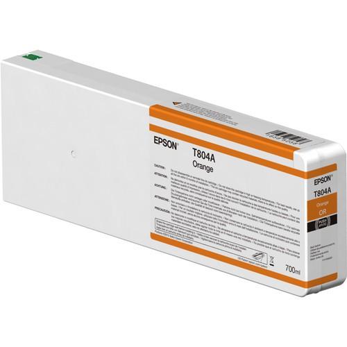 T804A - Cartucho de Tinta Epson UltraChrome HDX 700ml - Laranja