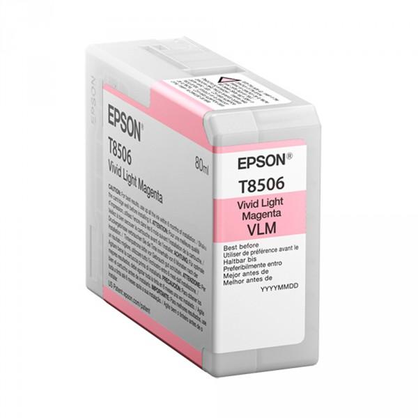 T8506 - Cartucho de Tinta Epson UltraChrome HD 80ml - Magenta Claro Intenso