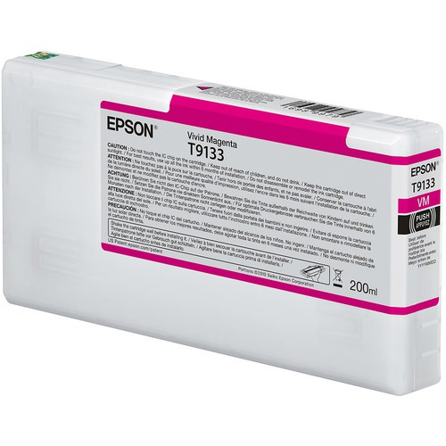T9133 - Cartucho de Tinta Epson UltraChrome HDX 200ml - Magenta Intenso