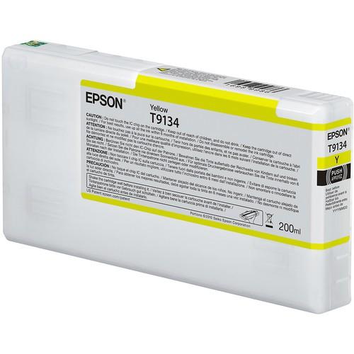 T9134 - Cartucho de Tinta Epson UltraChrome HDX 200ml - Amarelo