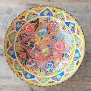 Tigela Turca Amarelo em Cerâmica Relevo Isparta 25,5cm