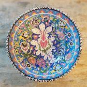 Tigela Turca Azul em Cerâmica Relevo Adapazari 26cm