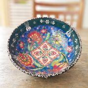 Tigela Turca Azul em Cerâmica Relevo Gazipasa 15,5cm