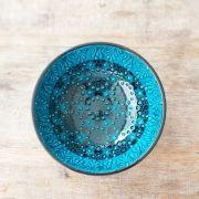 Tigela Turca Turquesa em Cerâmica Relevo Tarso 16cm