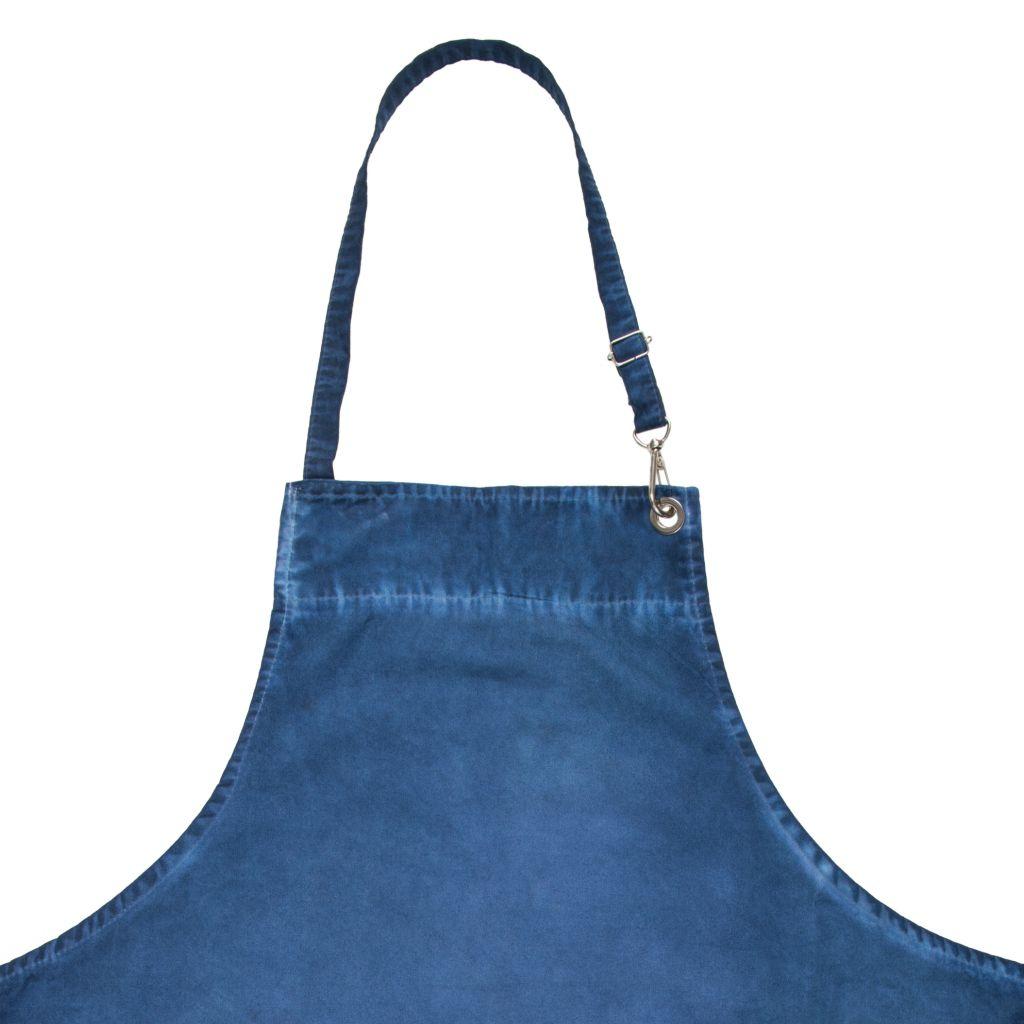 Avental Chefe de Cozinha Azul Alça Regulável Jeans