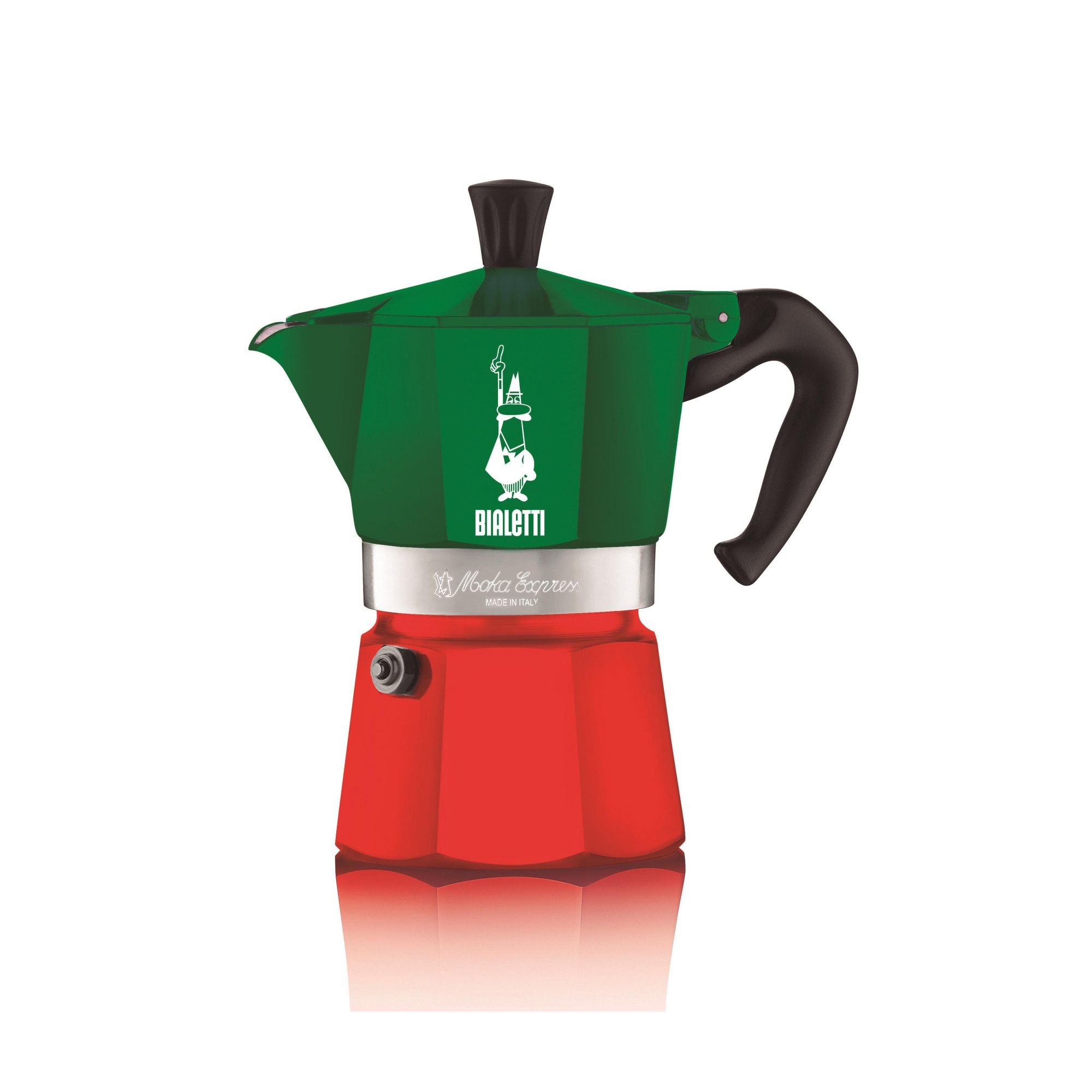 Cafeteira Bialetti 3 Xícaras Verde e Vermelha Italiana