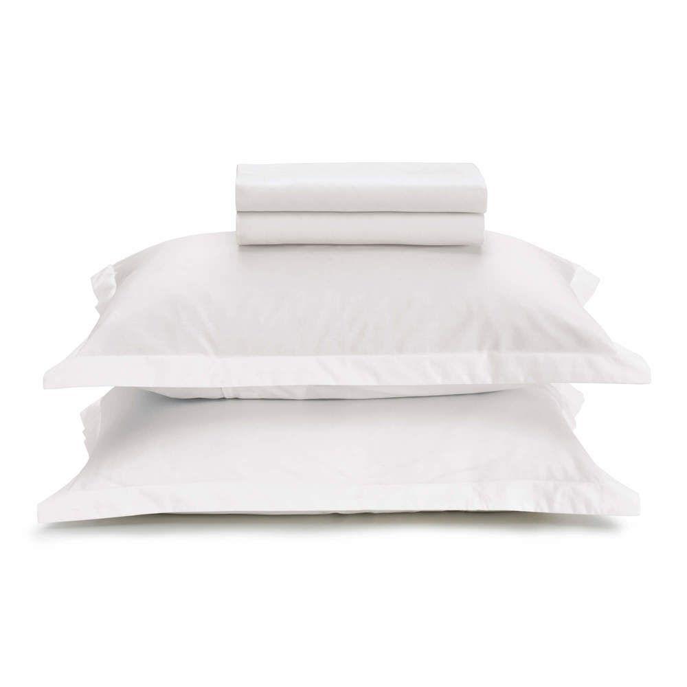 Jogo de Cama Queen 180 Fios 100% Algodão Liss Branco Karsten  - Brandal table & textile