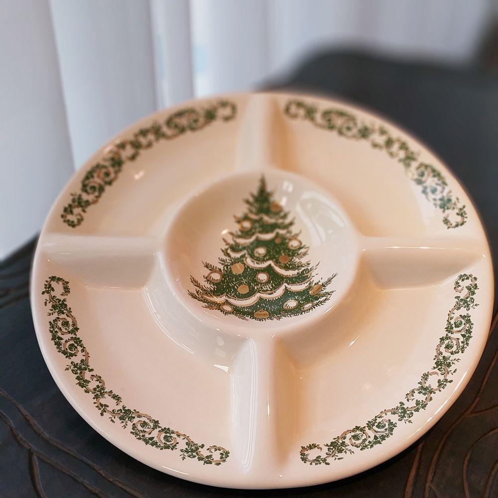 Petisqueira Árvore de Natal 34cm x 4cm Cerâmica Luiz Salvador