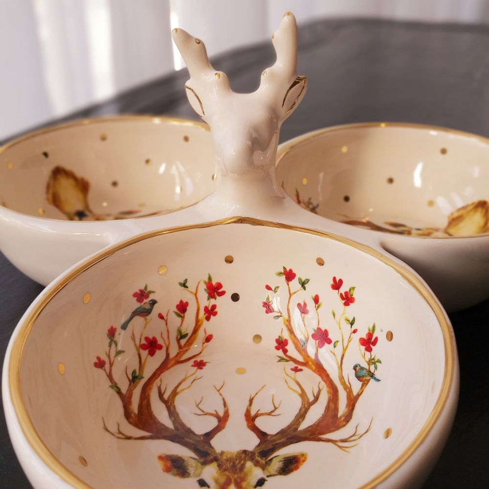 Petisqueira  Luiz Salvador Deer Multicolor  - Brandal table & textile