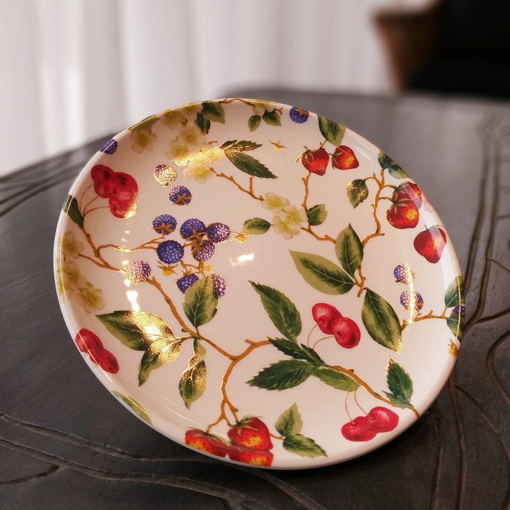 Prato de Sobremesa Luiz Salvador Fresh Garden Multicolor