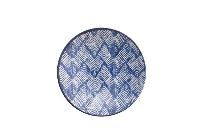 Prato Fundo Aquarelle Boho Blue 21cm