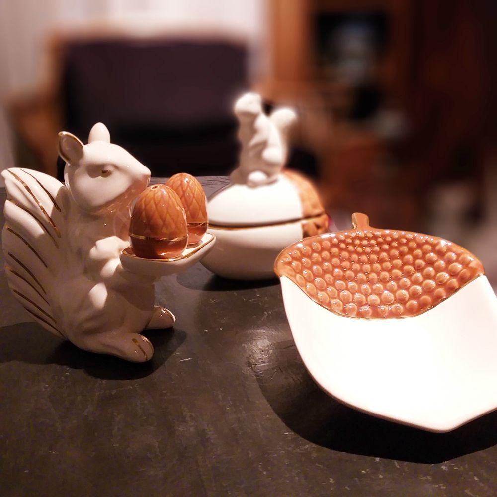 Saleiro de Natal Esquilo Cerâmica Luiz Salvador  - Brandal table & textile