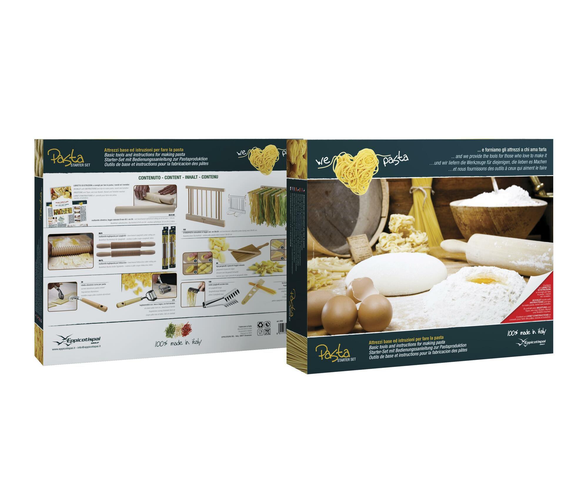 Conjunto de Acessórios para Massa Eppicotispai em Madeira e Inox  - Brandal table & textile