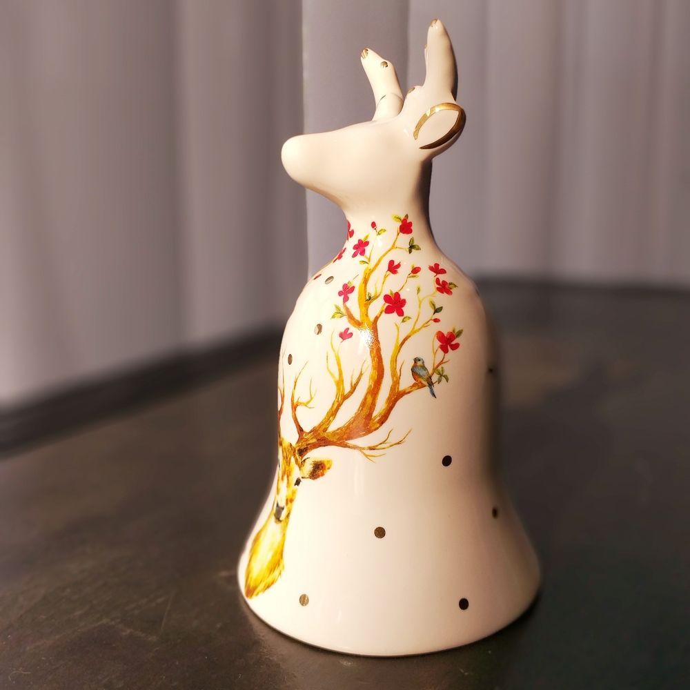 Sino de Natal Deer Multicolor 16cm x 9cm