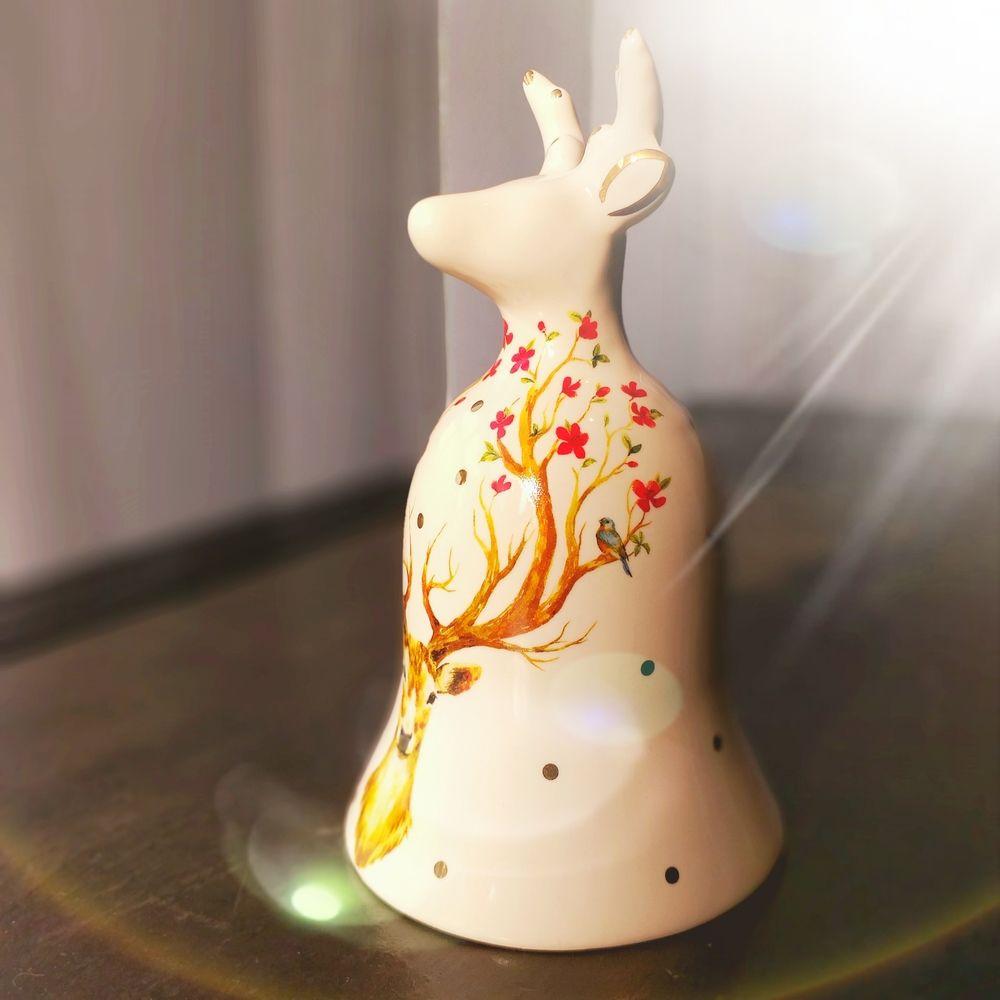Sino de Natal Deer Multicolor 16cm x 9cm  - Brandal table & textile