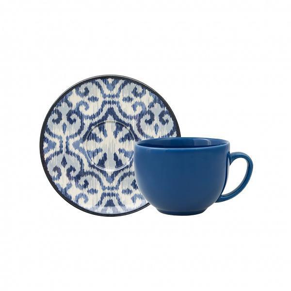 Xícara de Chá Aquarelle Boho Blue