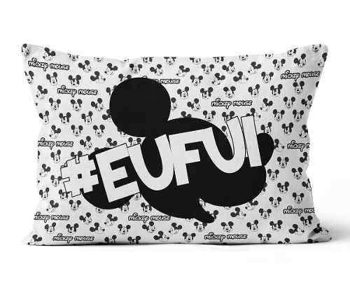 Almofadas Mickey Personalizadas 20x30 Frente-verso