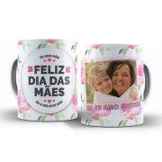 Caneca Feliz Dia das Mães com Foto + Caixa