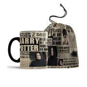 Caneca Jornal O Profeta Diario Harry Potter + saquinho