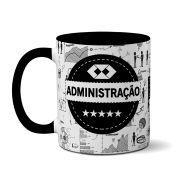 Caneca Preta Profissão - Adiministração