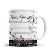 Caneca Saxofone Personalizada Musica com Nome