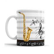 Caneca Musica Saxofone