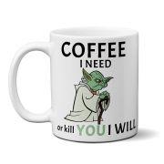 Caneca Star Wars Coffee Yoda
