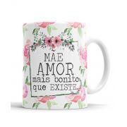 Kit de Presente Dia das Mães Almofada Caneca + Saquinho + Almochaveiro  Mãe  Amor mais bonito que Existe