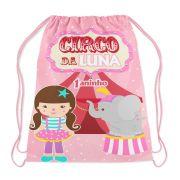 Mochilinha Personalizada Circo Menina Rosa