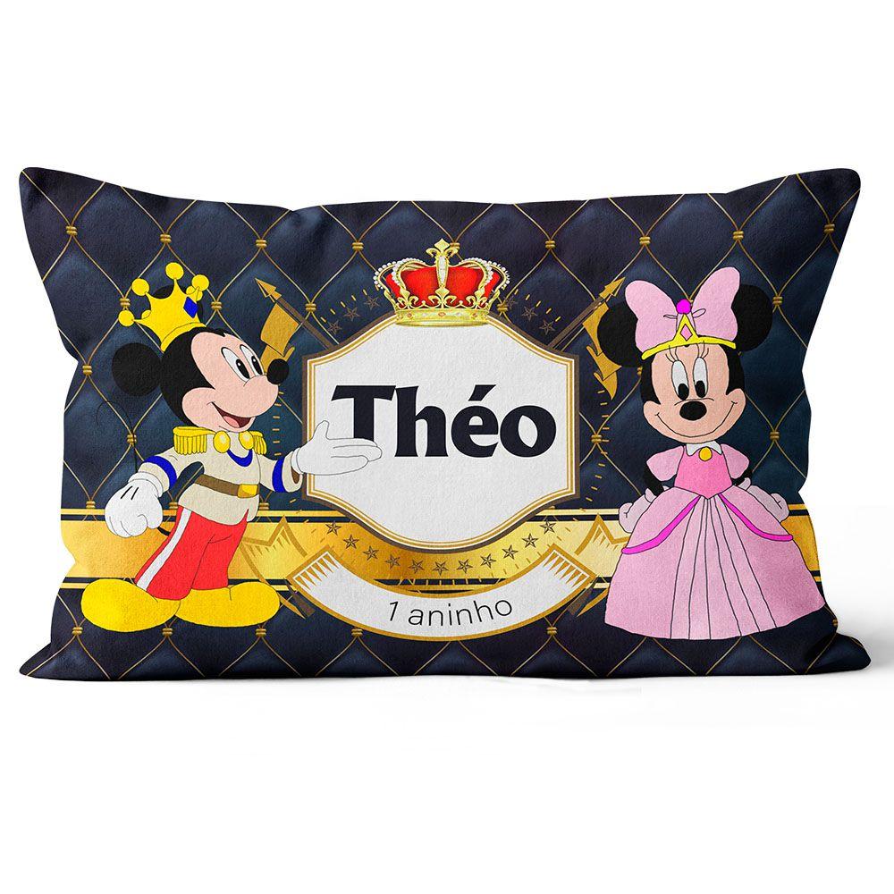 Almofada Mickey Personalizada Principe Realeza  20x30 Frente-verso  - ELICOMICS PRODUTOS PERSONALIZADOS