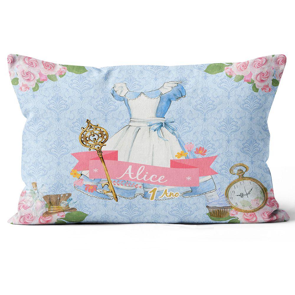 Almofada Personalizada Alice no País das Maravilhas - Frente