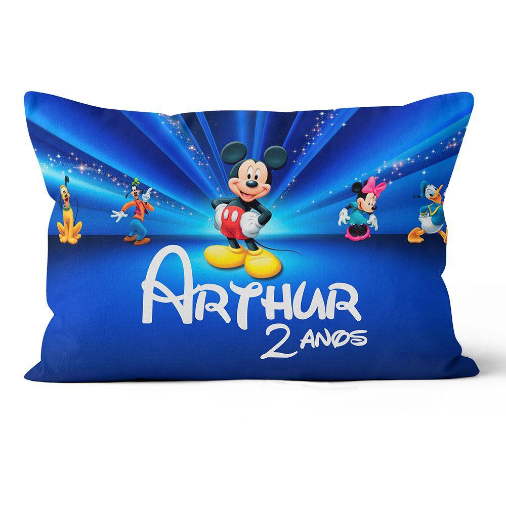 Almofada Personalizada Mickey - Azul  20x30 F e V