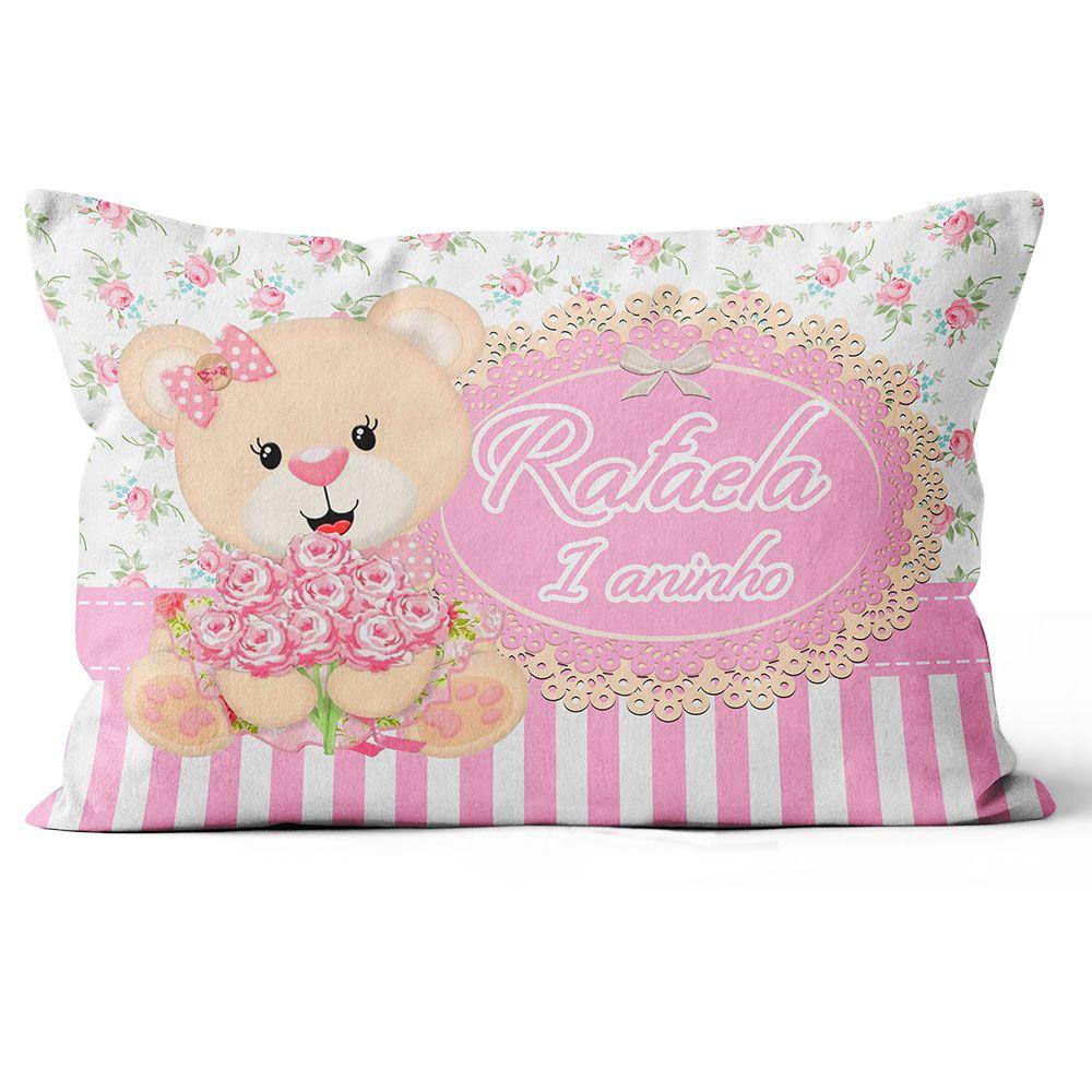 Almofada Personalizada Ursa Princesa 20x30 Frente-verso