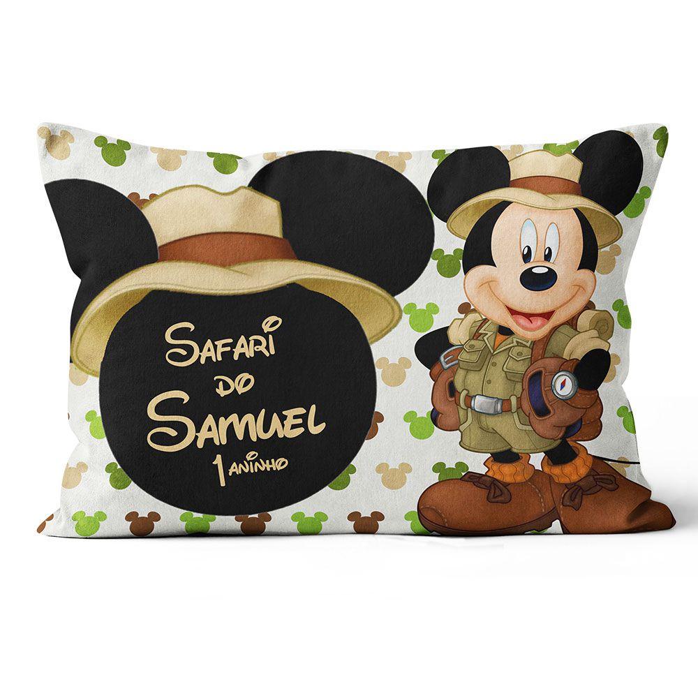 Almofadas Personalizadas Mickey Safari 20x30 Frente-verso