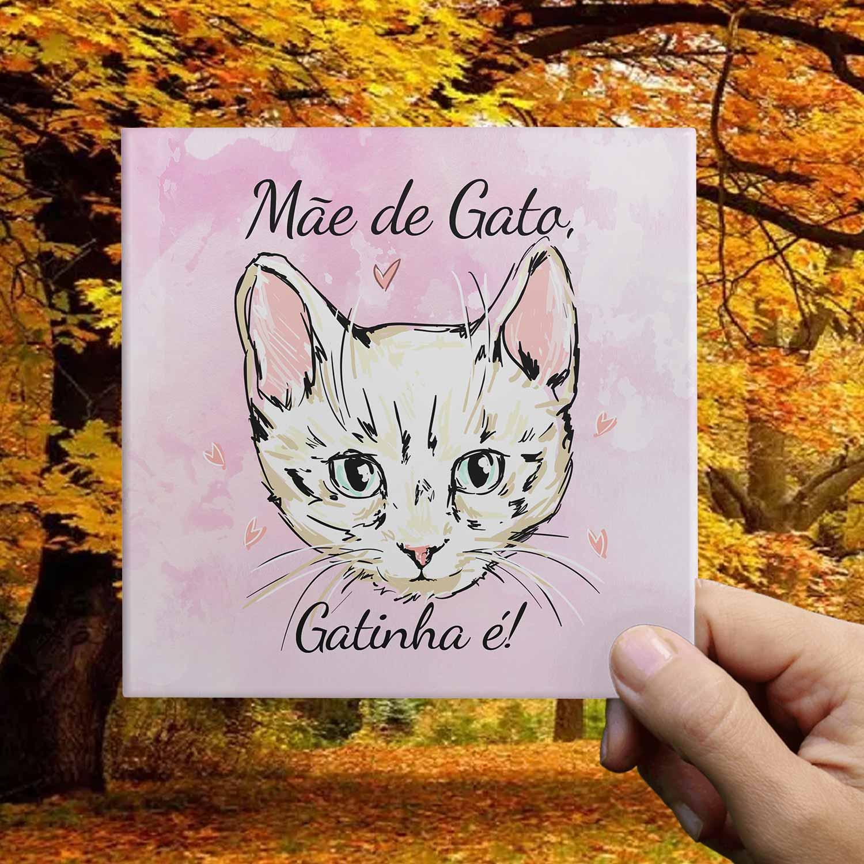 Azulejo Decorativo Mãe de Gato