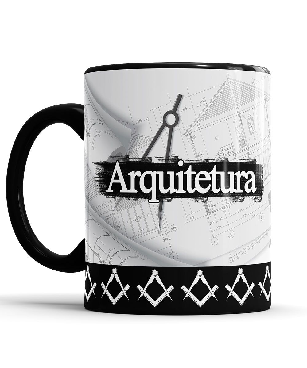 Caneca Arquitetura Personalizado com nome + Saquinho