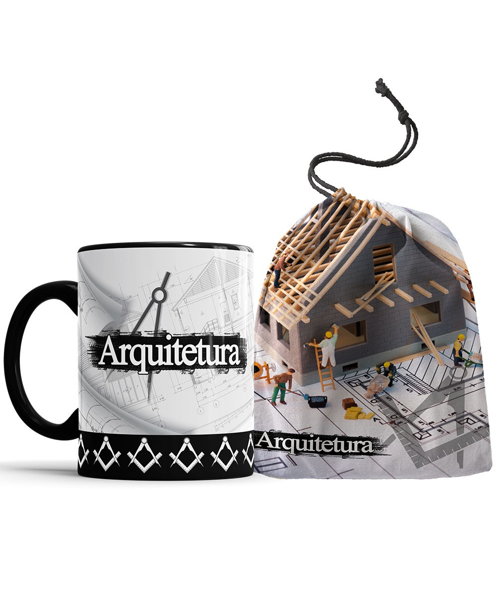 Caneca Arquitetura + Saquinho