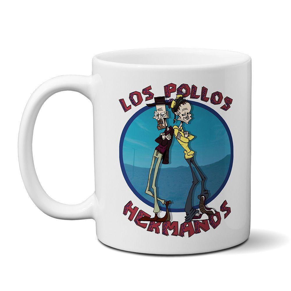 Caneca Breaking Bad Los Pollos Hermanos Mod02  - ELICOMICS PRODUTOS PERSONALIZADOS