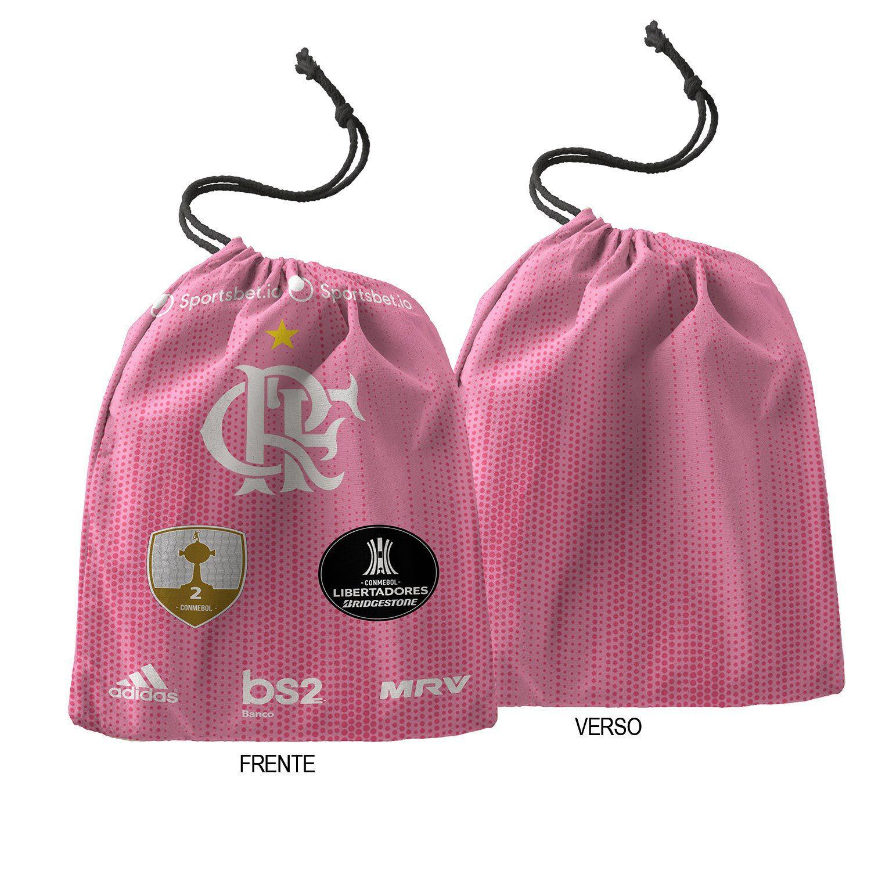 Caneca do Flamengo Personalizada ( Rosa ) com nome + saquinho de tecido