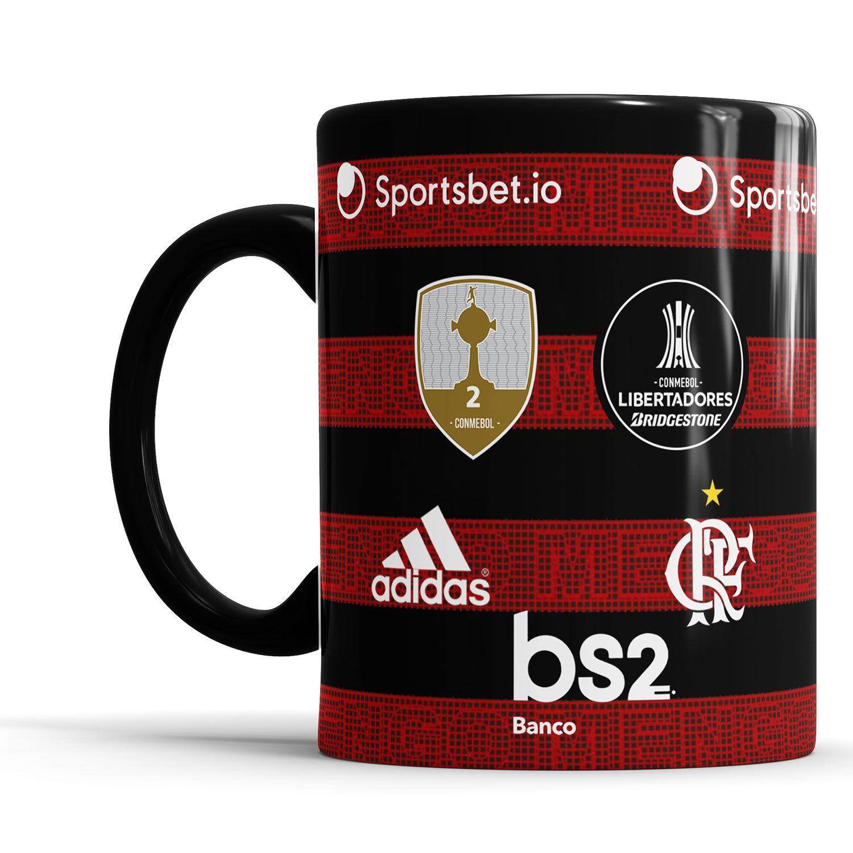 Caneca do Flamengo Personalizada + Saquinho de Tecido