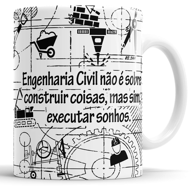 Caneca Engenharia Civil   - ELICOMICS PRODUTOS PERSONALIZADOS