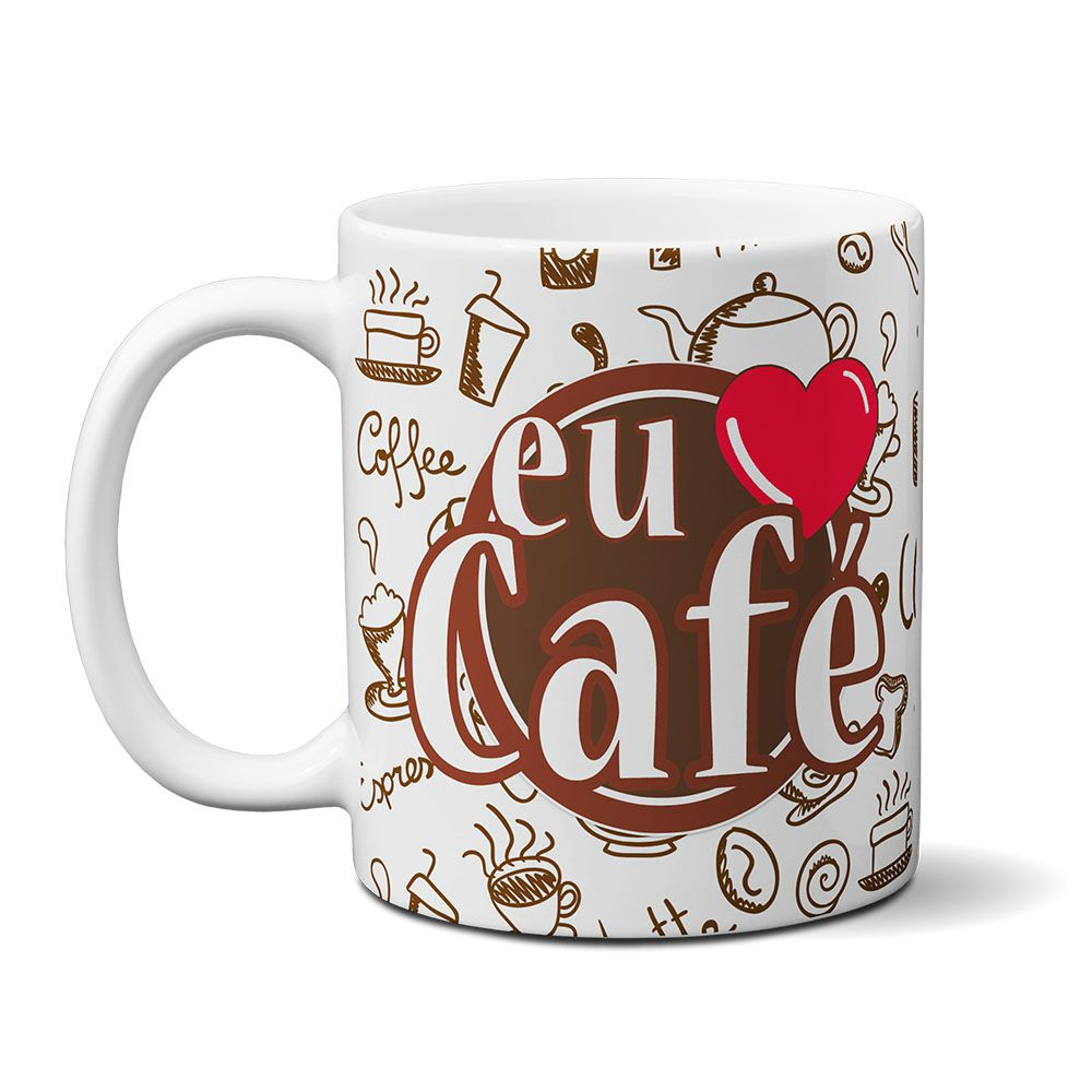 Caneca Eu Amo Café - mod01