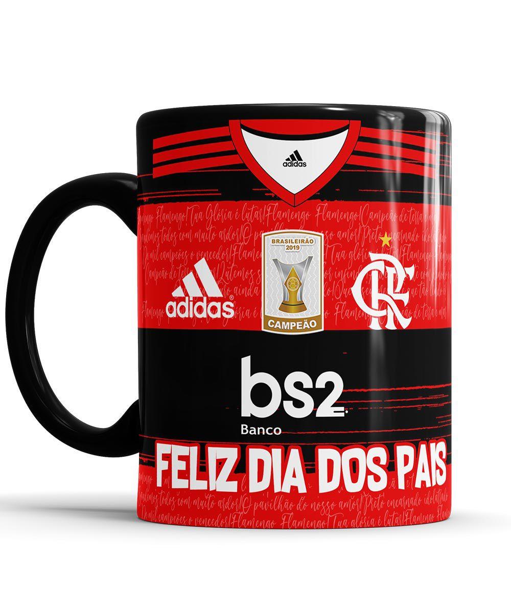 Caneca Feliz dia dos Pais Flamengo com foto