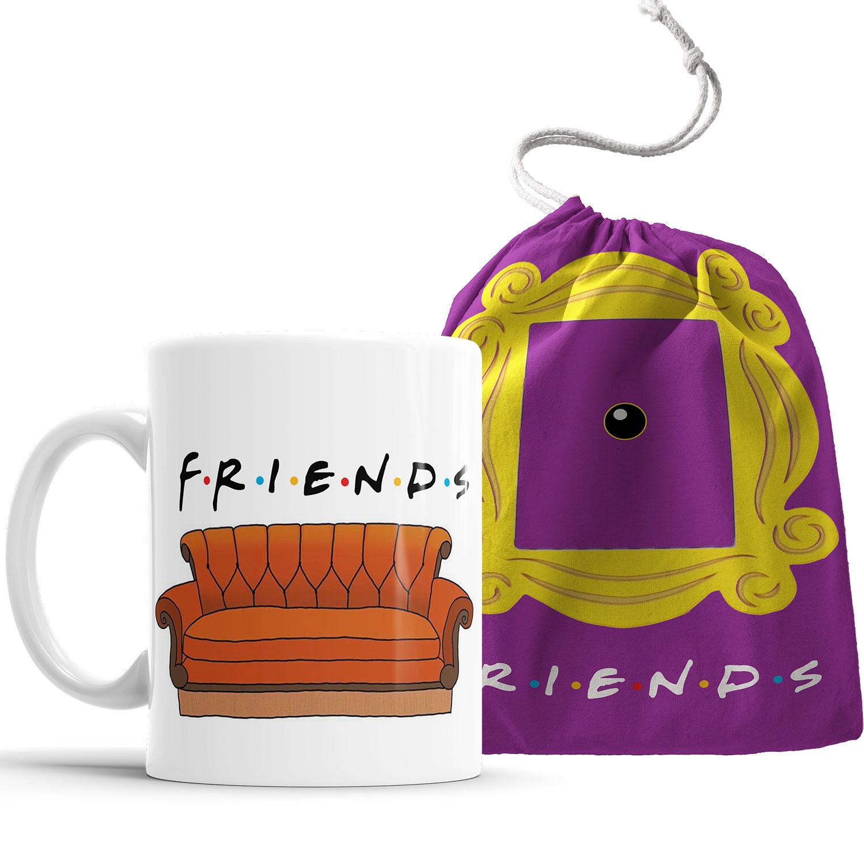 Caneca Friends Sofá com Saquinho