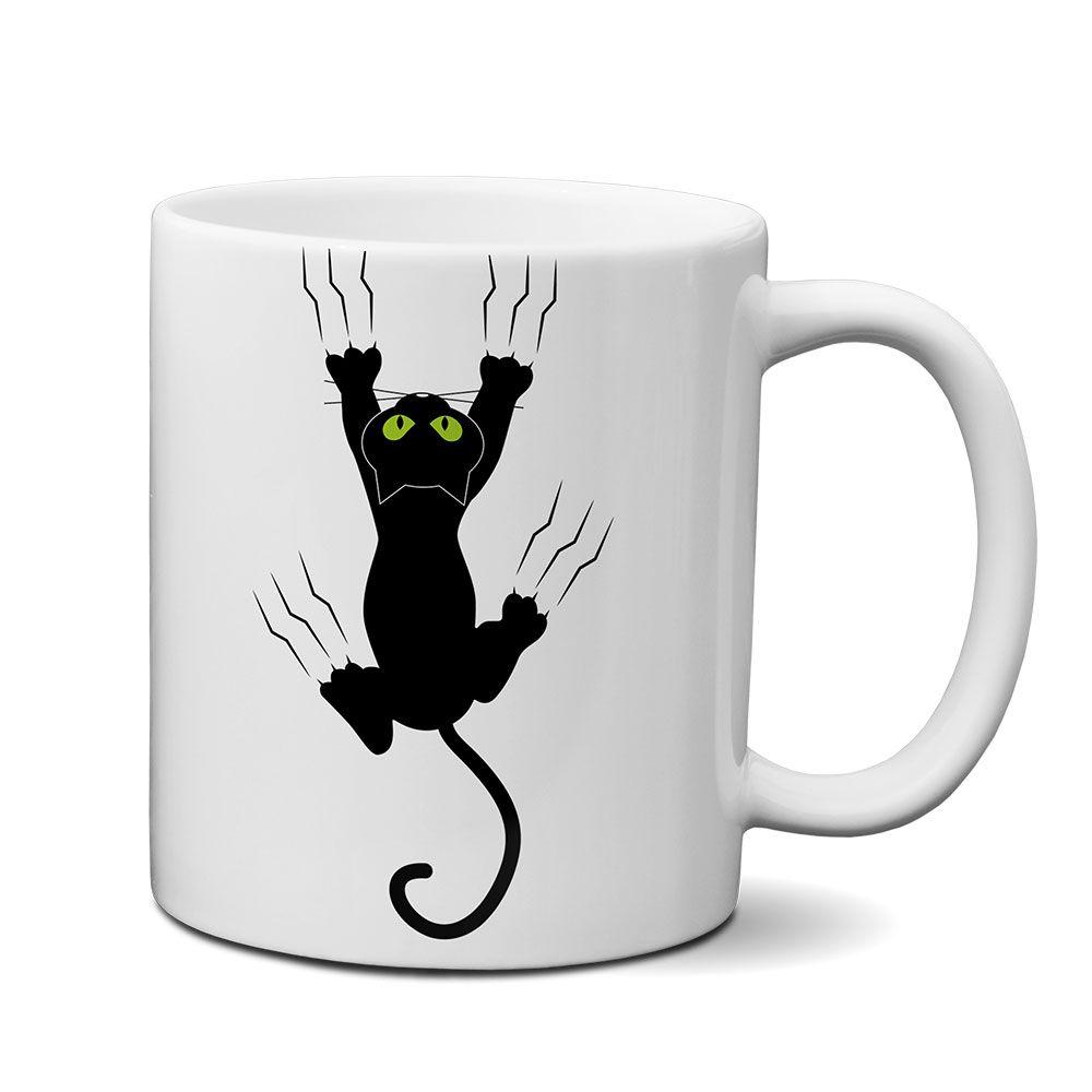 Caneca Gato Pendurado